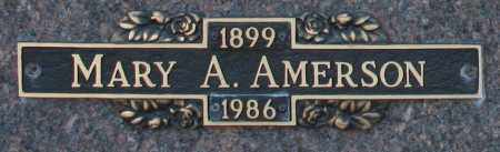 AMERSON, MARY A - Maricopa County, Arizona | MARY A AMERSON - Arizona Gravestone Photos