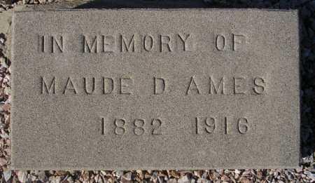 AMES, MAUDE D. - Maricopa County, Arizona | MAUDE D. AMES - Arizona Gravestone Photos
