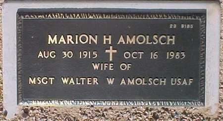 AMOLSCH, MARION H. - Maricopa County, Arizona | MARION H. AMOLSCH - Arizona Gravestone Photos
