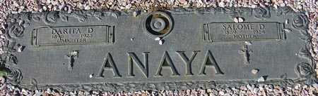 ANAYA, SALOME D. - Maricopa County, Arizona   SALOME D. ANAYA - Arizona Gravestone Photos