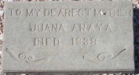 ANAYA, JUANA - Maricopa County, Arizona   JUANA ANAYA - Arizona Gravestone Photos