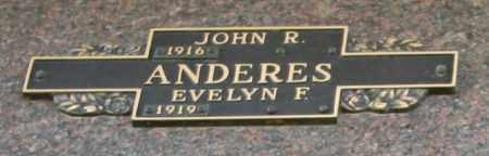 ANDERES, JOHN R - Maricopa County, Arizona | JOHN R ANDERES - Arizona Gravestone Photos