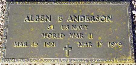 ANDERSON, ALBEN E. - Maricopa County, Arizona | ALBEN E. ANDERSON - Arizona Gravestone Photos