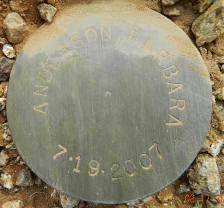 ANDERSON, BARBARA - Maricopa County, Arizona | BARBARA ANDERSON - Arizona Gravestone Photos