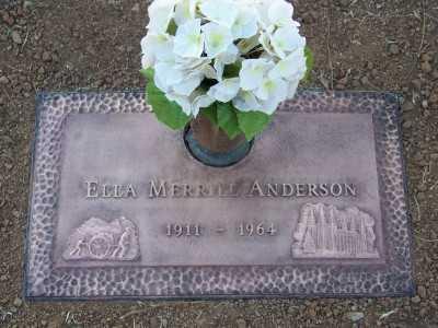 ANDERSON, ELLA IRENE - Maricopa County, Arizona | ELLA IRENE ANDERSON - Arizona Gravestone Photos