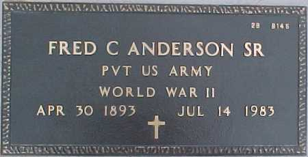 ANDERSON, FRED C., SR. - Maricopa County, Arizona | FRED C., SR. ANDERSON - Arizona Gravestone Photos