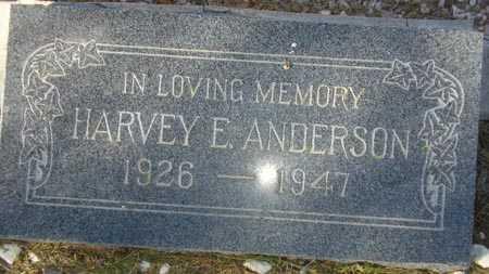 ANDERSON, HARVEY E. - Maricopa County, Arizona | HARVEY E. ANDERSON - Arizona Gravestone Photos