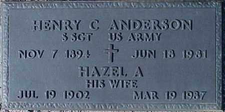 ANDERSON, HENRY C. - Maricopa County, Arizona | HENRY C. ANDERSON - Arizona Gravestone Photos