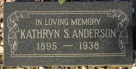 ANDERSON, KATHRYN S. - Maricopa County, Arizona | KATHRYN S. ANDERSON - Arizona Gravestone Photos