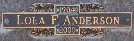 ANDERSON, LOLA F - Maricopa County, Arizona | LOLA F ANDERSON - Arizona Gravestone Photos