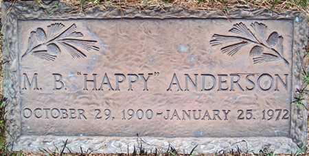 "ANDERSON, M. B. ""HAPPY"" - Maricopa County, Arizona | M. B. ""HAPPY"" ANDERSON - Arizona Gravestone Photos"
