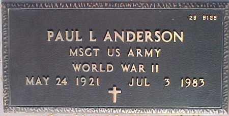 ANDERSON, PAUL L. - Maricopa County, Arizona | PAUL L. ANDERSON - Arizona Gravestone Photos