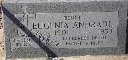 ANDRADE, EUGENIA - Maricopa County, Arizona | EUGENIA ANDRADE - Arizona Gravestone Photos