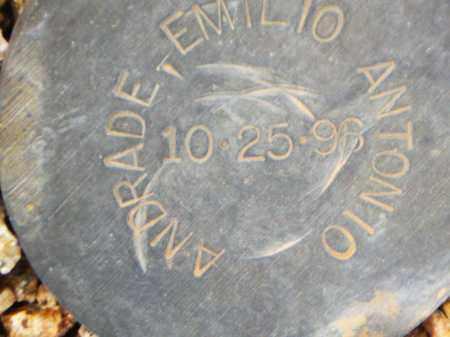 ANDRADE, EMILIO ANTONIO - Maricopa County, Arizona | EMILIO ANTONIO ANDRADE - Arizona Gravestone Photos