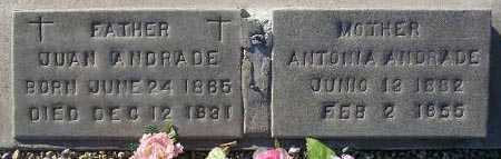 ANDRADE, JUAN - Maricopa County, Arizona | JUAN ANDRADE - Arizona Gravestone Photos