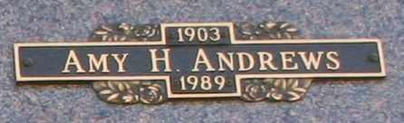 ANDREWS, AMY H - Maricopa County, Arizona | AMY H ANDREWS - Arizona Gravestone Photos