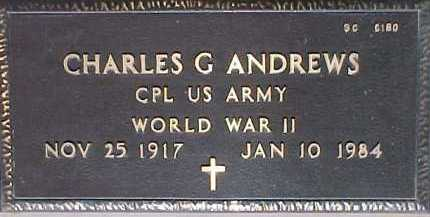 ANDREWS, CHARLES G. - Maricopa County, Arizona | CHARLES G. ANDREWS - Arizona Gravestone Photos