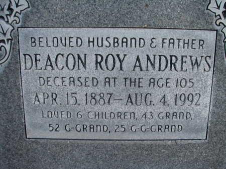 ANDREWS, ROY - Maricopa County, Arizona   ROY ANDREWS - Arizona Gravestone Photos
