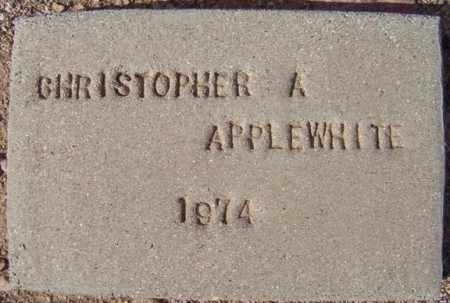 APPLEWHITE, CHRISTOPHER A. - Maricopa County, Arizona   CHRISTOPHER A. APPLEWHITE - Arizona Gravestone Photos