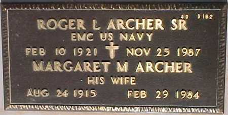 ARCHER, ROGER L, SR - Maricopa County, Arizona | ROGER L, SR ARCHER - Arizona Gravestone Photos
