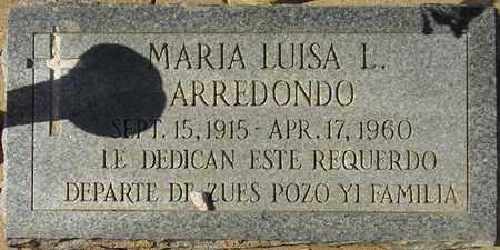 ARREDONDO, MARIA LUISA L. - Maricopa County, Arizona | MARIA LUISA L. ARREDONDO - Arizona Gravestone Photos