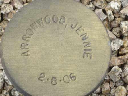 ARROWWOOD, JENNIE - Maricopa County, Arizona   JENNIE ARROWWOOD - Arizona Gravestone Photos
