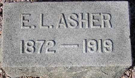 ASHER, E.L. - Maricopa County, Arizona | E.L. ASHER - Arizona Gravestone Photos
