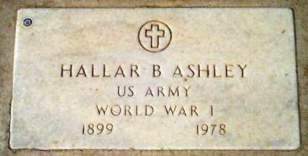 ASHLEY, HALLAR B. - Maricopa County, Arizona | HALLAR B. ASHLEY - Arizona Gravestone Photos
