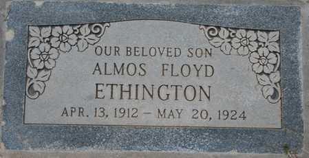 ETHINGTON, ALMOS FLOYD - Maricopa County, Arizona   ALMOS FLOYD ETHINGTON - Arizona Gravestone Photos