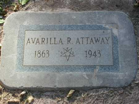 ATTAWAY, AVARILLA R. - Maricopa County, Arizona | AVARILLA R. ATTAWAY - Arizona Gravestone Photos