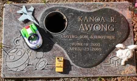 AWONG, KANOA R - Maricopa County, Arizona | KANOA R AWONG - Arizona Gravestone Photos
