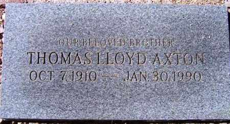 AXTON, THOMAS LLOYD, JR - Maricopa County, Arizona | THOMAS LLOYD, JR AXTON - Arizona Gravestone Photos