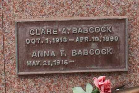 BABCOCK, ANNA T. - Maricopa County, Arizona | ANNA T. BABCOCK - Arizona Gravestone Photos