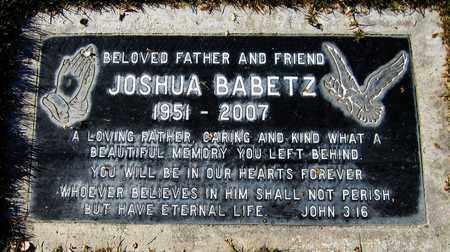 BABETZ, JOSHUA - Maricopa County, Arizona | JOSHUA BABETZ - Arizona Gravestone Photos