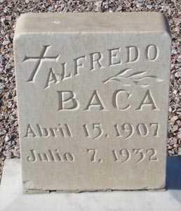 BACA, ALFREDO - Maricopa County, Arizona | ALFREDO BACA - Arizona Gravestone Photos