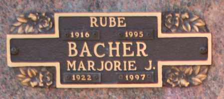 BACHER, MARJORIE J - Maricopa County, Arizona | MARJORIE J BACHER - Arizona Gravestone Photos