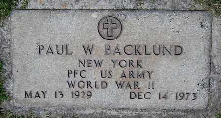 BACKLUND, PAUL W. - Maricopa County, Arizona | PAUL W. BACKLUND - Arizona Gravestone Photos