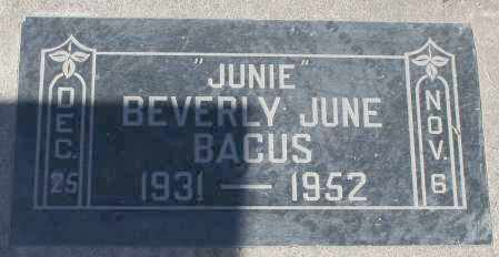 "BACUS, BEVERLY JUNE ""JUNIE"" - Maricopa County, Arizona 