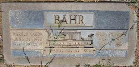 SHUMWAY BAHR, FREDA - Maricopa County, Arizona | FREDA SHUMWAY BAHR - Arizona Gravestone Photos