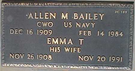 BAILEY, ALLEN M. - Maricopa County, Arizona | ALLEN M. BAILEY - Arizona Gravestone Photos