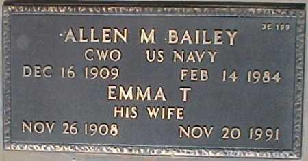 BAILEY, ALLEN M. - Maricopa County, Arizona | ALLEN M. BAILEY - Arizona Gravestone Photos