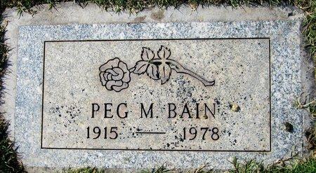 BAIN, PEG M - Maricopa County, Arizona   PEG M BAIN - Arizona Gravestone Photos