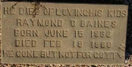 BAINES, RAYMOND C. - Maricopa County, Arizona | RAYMOND C. BAINES - Arizona Gravestone Photos