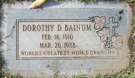 BAINUM, DOROTHY D - Maricopa County, Arizona   DOROTHY D BAINUM - Arizona Gravestone Photos