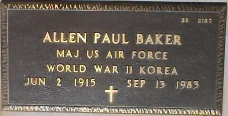 BAKER, ALLEN PAUL - Maricopa County, Arizona | ALLEN PAUL BAKER - Arizona Gravestone Photos