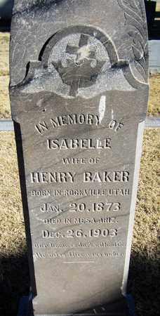 BAKER, ISABELLE - Maricopa County, Arizona | ISABELLE BAKER - Arizona Gravestone Photos