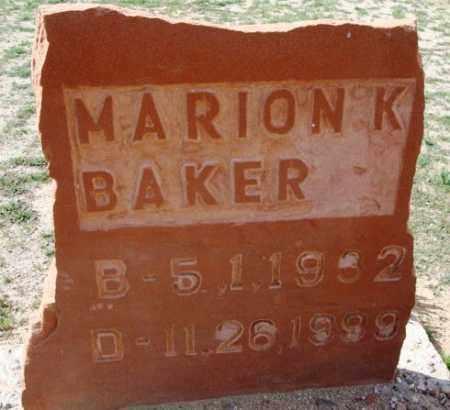 BAKER, MARION K. - Maricopa County, Arizona | MARION K. BAKER - Arizona Gravestone Photos