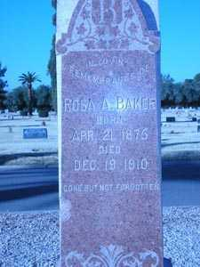 BAKER, ROSA A. - Maricopa County, Arizona | ROSA A. BAKER - Arizona Gravestone Photos
