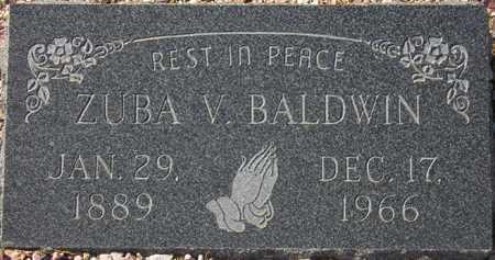 BALDWIN, ZUBA V. - Maricopa County, Arizona | ZUBA V. BALDWIN - Arizona Gravestone Photos