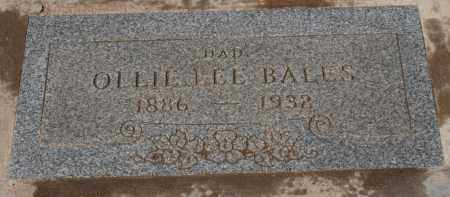 BALES, OLLIE LEE - Maricopa County, Arizona   OLLIE LEE BALES - Arizona Gravestone Photos